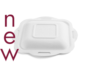 Size 4 Bagasse Gourmet Lid