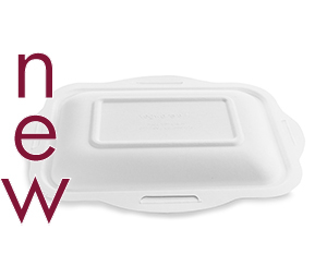 Size 5 Bagasse Gourmet Lid