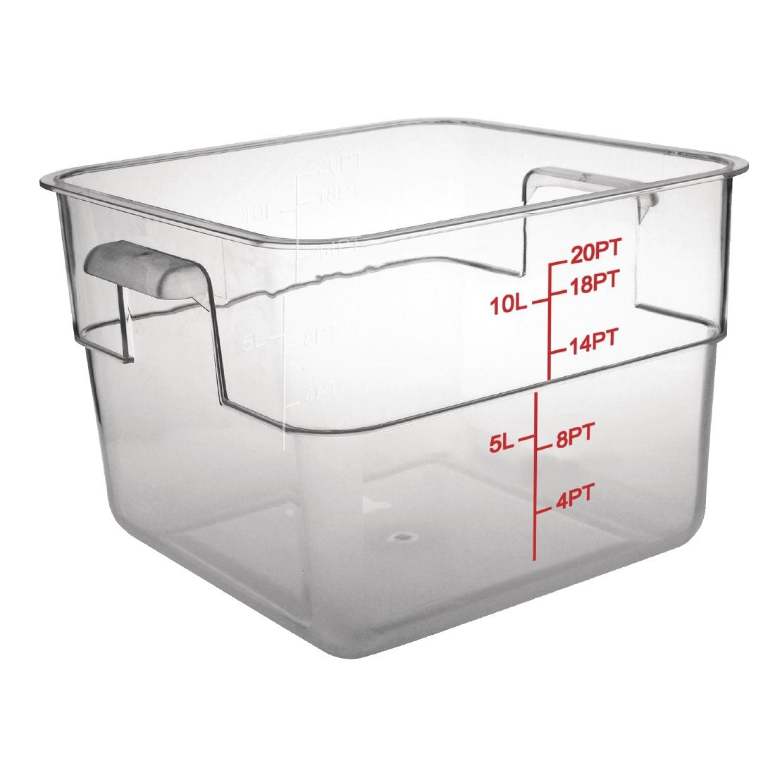 Polycarbonate Square Storage Container 10 Litre