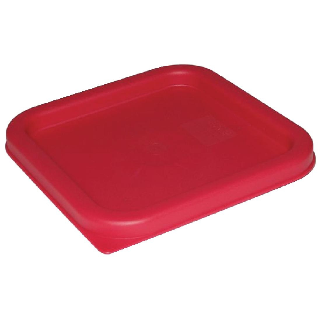 Vogue Large Square Lid - Red