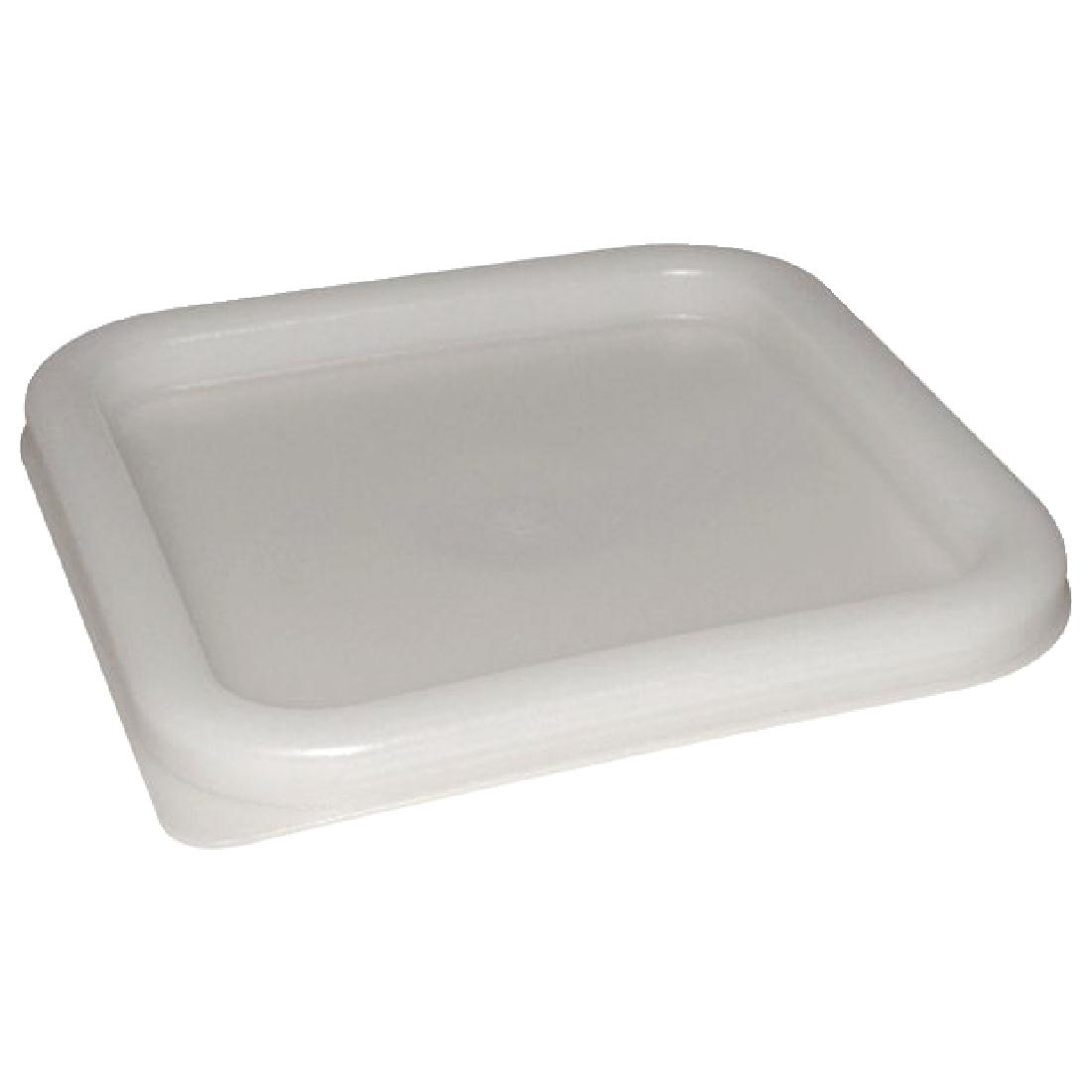 Vogue Large Square Lid - White