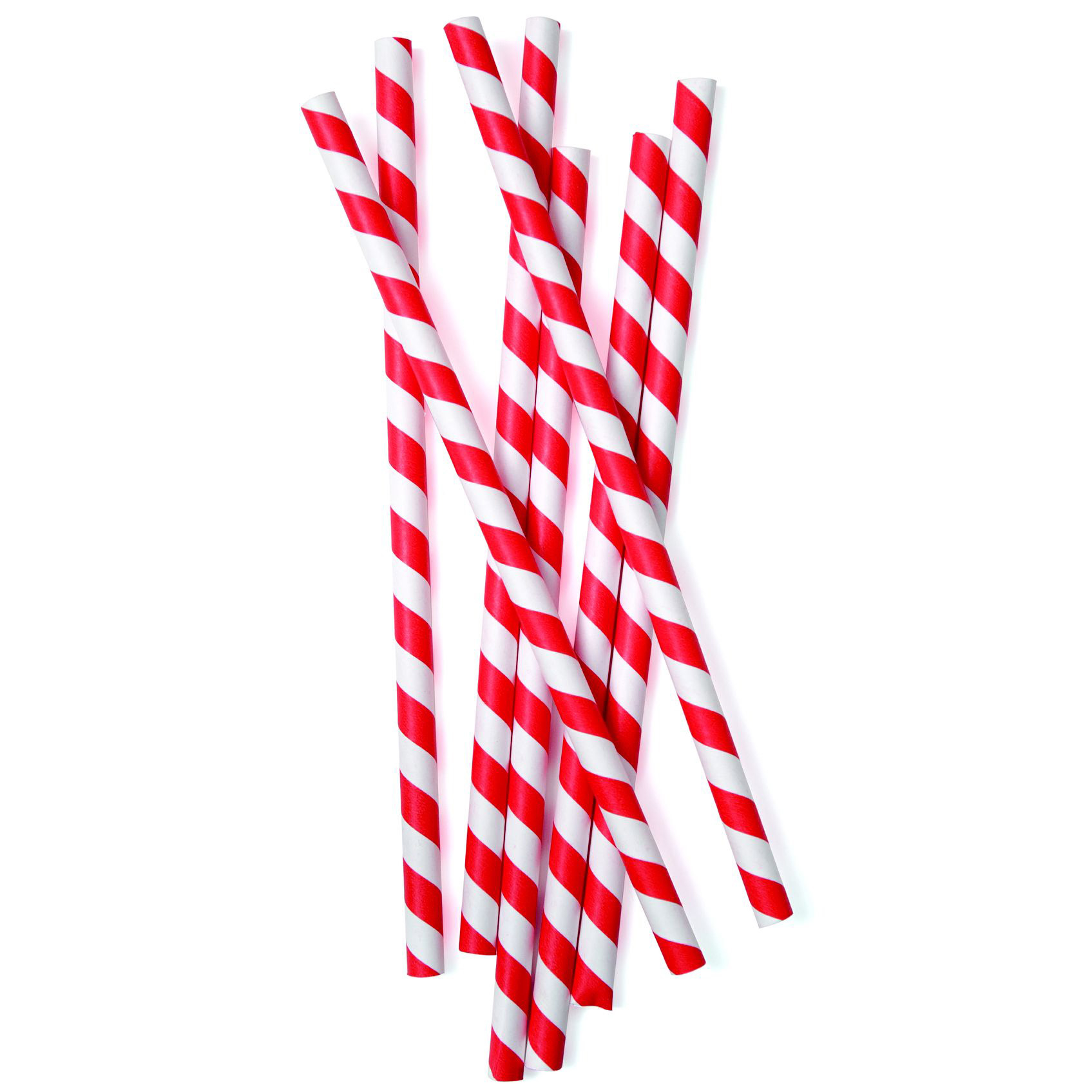 Candy Red Smoothie Straw PAPER 229x8mm 10x200