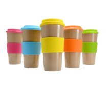 Eco-To-Go Husk Cup refillable with silicone lid