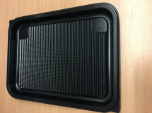 Small Black Platter Base 355x255mm square - New