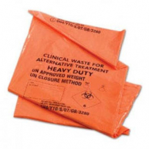 Orange Clincial Waste Sack 15/28 X 39inch