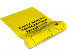 381x711x990 YELLOW CLINICAL W/SACK 12KG NON BULK TRANSPORT