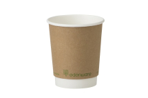 Go-Pak Kraft Double Wall PLA Lined Cup 8oz
