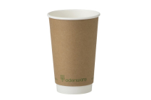 Go-Pak Kraft Double Wall PLA Lined Cup 16oz