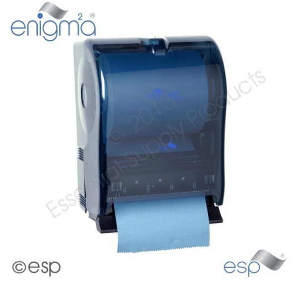 Mechanical Lever Towel Disp blue