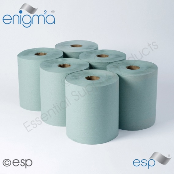 1 Ply Green Roll Towel 175M x 200mm x 45mm