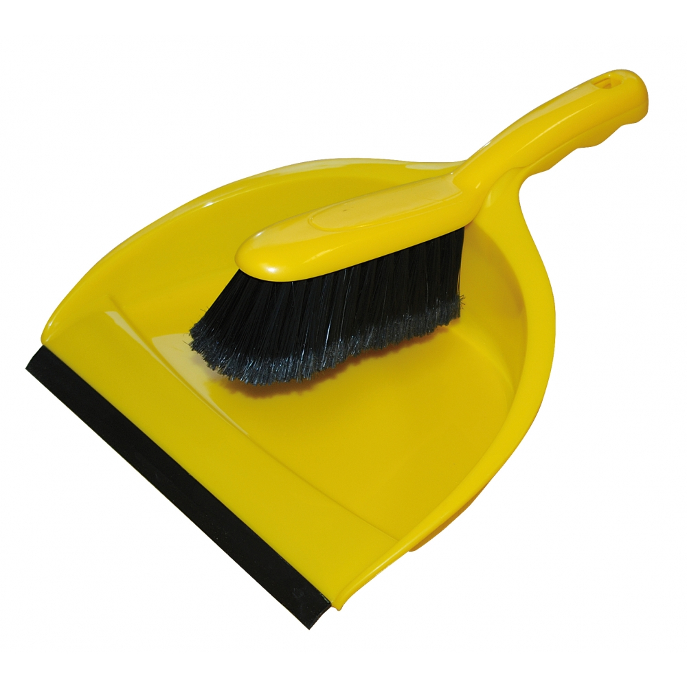 Yellow Dustpan And Brush Set
