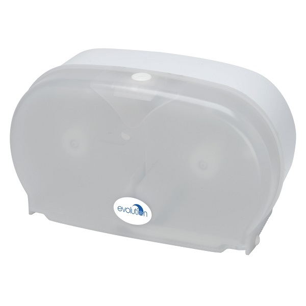 Twin Coreless Toilet Roll Dispenser Blue