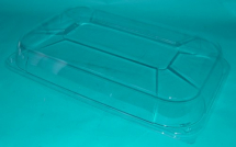 Clear lid for Black Rectangular Platter