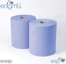 3ply Blue Industrial Roll 360M