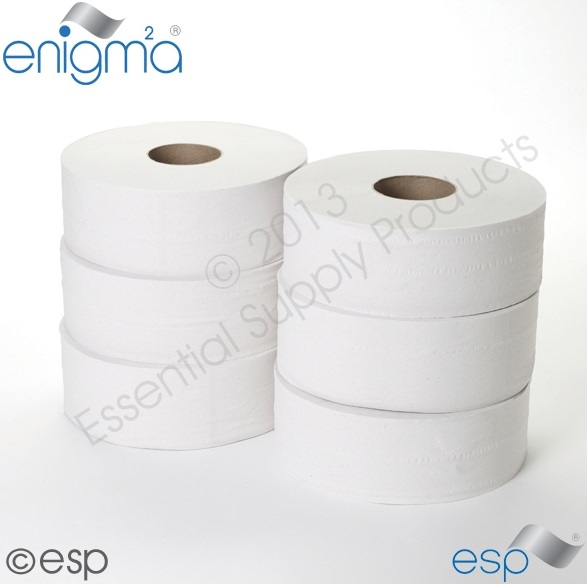2 Ply Jumbo Toilet Roll 400M x 90mm x 60mm 1111Sheets