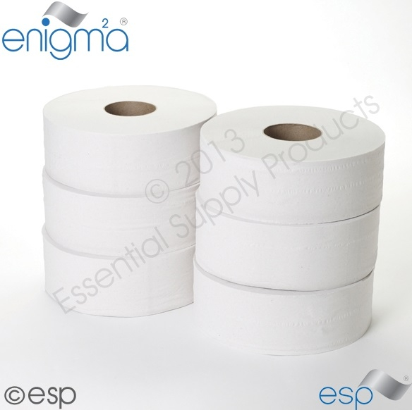 2 Ply Jumbo Toilet Roll 300M x 90mm 60mm Core 833 Sheets