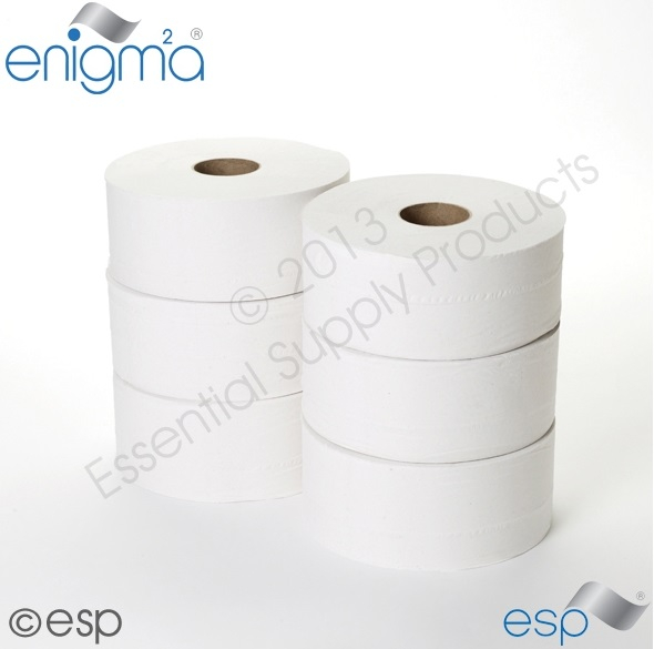 2 Ply Midi Jumbo Toilet Roll 230M x 90mm x 80mm Core 638 Sheets
