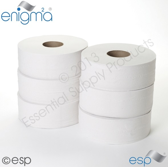 2 Ply Jumbo Toilet Roll 400M x 90mm 80mm Core 1111 Sheets