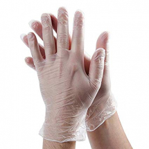 Small Clear Powdered Vinyl Gloves