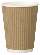 Go-Pak Kraft Triple Wall Ripple Cup 12oz