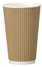 Go-Pak Kraft Triple Wall Ripple Cup 16oz