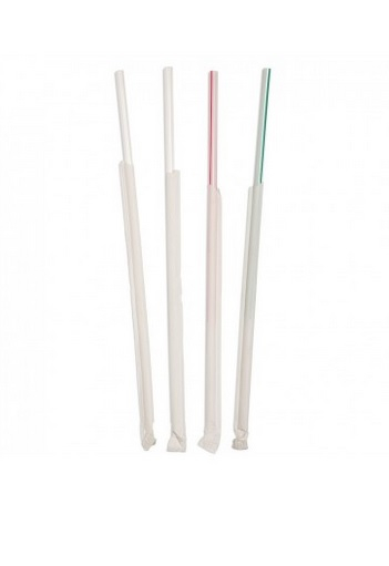 Assorted Colour Individually Wrapped Straws 200mm