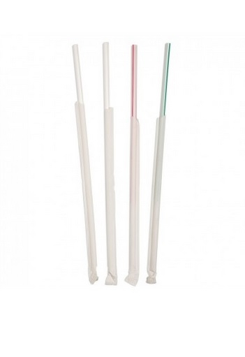 Individually Wrapped Bendy Straws 210mm