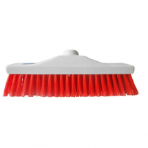 Red Hygiene Stiff Broom Head 12inch